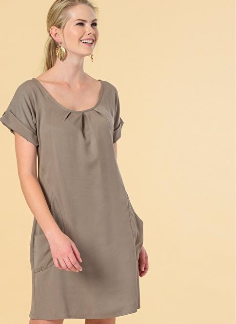 Knit&Co Cepli Tensel Elbise Vizon